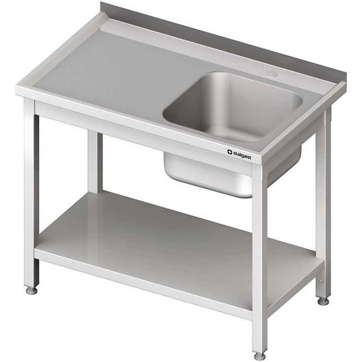 Stół ze zlewem 1-kom.(p),z półką 1000x600x850 mm skręcany