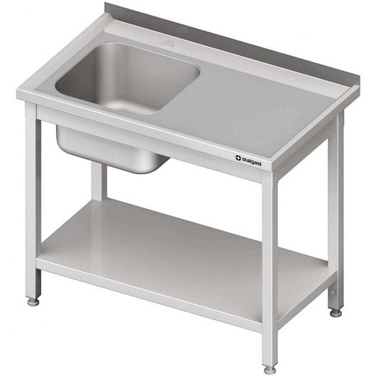 Stół ze zlewem 1-kom.(l),z półką 1200x600x850 mm spawany