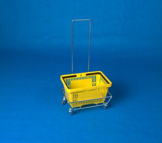 Wózek pod koszyki z raczką