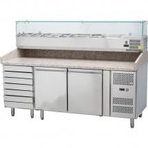 Stół chłodniczy do pizzy z nadstawą chłodniczą - Centrum Wyposażenia Sklepów
