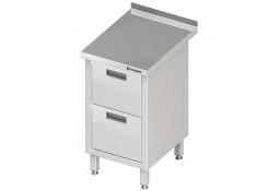 Stół przyścienny z blokiem dwóch szuflad 455x700x850 mm