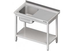 Stół ze zlewem 1-kom.(l),z półką 1200x700x850 mm spawany