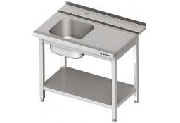 Stół załadowczy(p) 1-kom. z półką do zmywarki silanos 800x700x880 mm skręcany