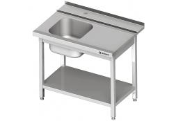 Stół załadowczy(p) 1-kom. z półką do zmywarki silanos 800x740x880 mm skręcany