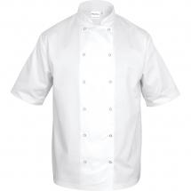 Bluza kucharska biała krótki rękaw m unisex