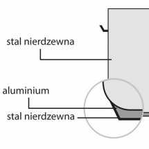 Garnek wysoki d 450 mm 71,6 l bez pokrywki
