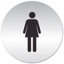 Tabliczka samoprzylepna - kobiety - Centrum Wyposażenia Sklepów