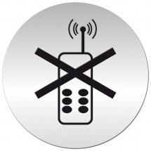 Tabliczka samoprzylepna - zakaz używania telefonów - Centrum Wyposażenia Sklepów
