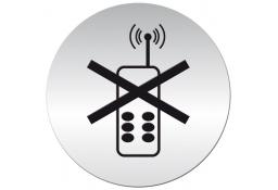 Tabliczka samoprzylepna - zakaz używania telefonów