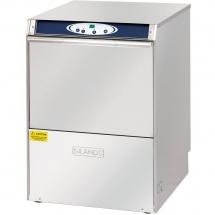 Zmywarka uniwersalna 6,4kw z dozownikiem płynu myjącego oraz zmiękczaczem automatycznym, pompą wspomogająca płuk., wyś. temp., pompa zrzut.