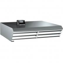 Okap z kondensatorem pary do pieców cheftop el 20xgn 1/1 i bakertop 16x600x400 - Centrum Wyposażenia Sklepów