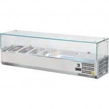 Nadstawa chłodnicza nastawna 6xgn1/4 - szyba prosta - Centrum Wyposażenia Sklepów
