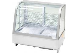 Witryna ekspozycyjna 100 l srebrna oświetlenie led