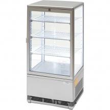 Witryna ekspozycyjna 78 l srebrna oświetlenie led - Centrum Wyposażenia Sklepów