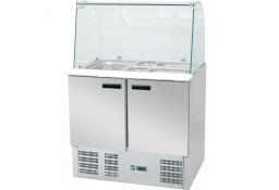 Stół chłodniczy sałatkowy z nadstawą szklaną 240 l +2/+8°c 900x700x1300