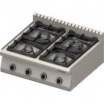 Kuchnia nastawna gazowa 4 palnikowa 800x700 20,5kw - g30/31 (propan-butan)
