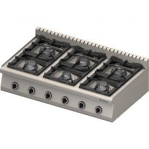 Kuchnia nastawna gazowa 6 palnikowa1200x700 36,5kw - g30/31 (propan-butan)