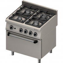 Kuchnia gazowa 4 palnikowa wym. 800x700x850 z piekarnikiem gazowym (800) 24+6 kw- g30/31 (propan-butan)