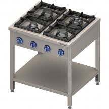 Kuchnia gazowa wolnostojąca 4 palnikowa z półką 22.5kw - g30 (propan-butan)