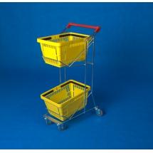 Wózek na dwa koszyki - Centrum Wyposażenia Sklepów
