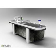Boks kasowy Kolecki - ACX 01 - Centrum Wyposażenia Sklepów