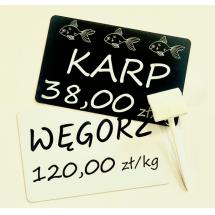 Etykiety cenowe czarne - Centrum Wyposażenia Sklepów